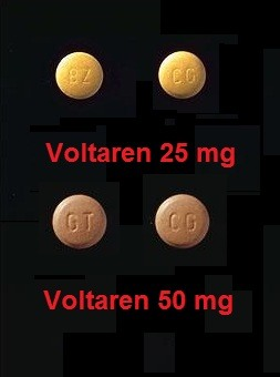 Voltaren tabletter 25 och 50 mg
